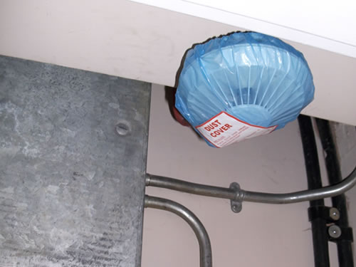 Shower cap causes dirty fire safety